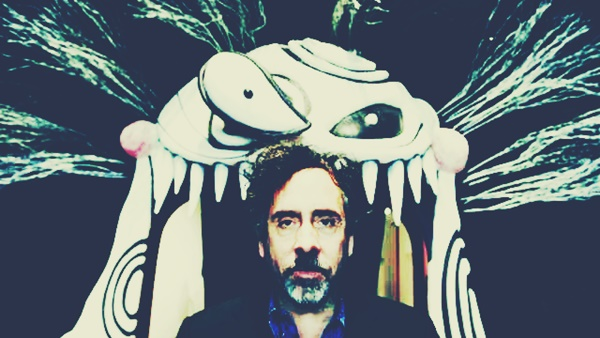 LOS ANGELES, CA - MAY 28, 2011: Portrait of Tim Burton standing at the entrance to the new LACMA exhibition devoted to his work as a filmmaker and an illustrator in Los Angeles, CA May 28, 2011. (Francine Orr / Los Angeles Times)