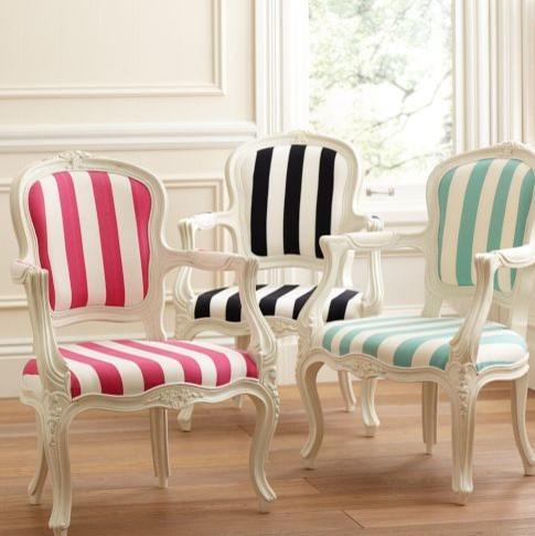 cadeira listrada moderna - houzz.com