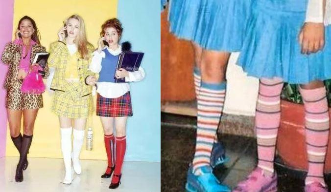 moda saia e meias crueless patricinhas de beverly hills anos 2000
