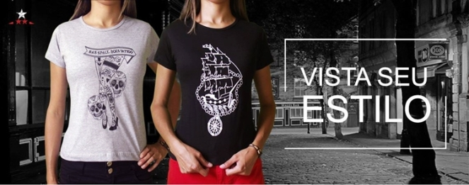 camisetas femininas imperium estampas banner