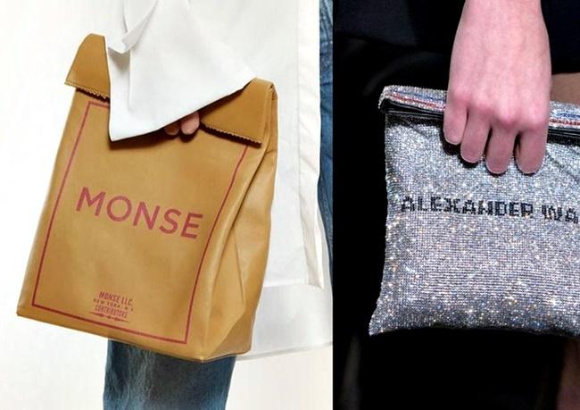 sacolas de compras como acessórios de luxo semana de moda nova york londres tendência 2018 inverno go fashion cruzeiro do sul 01 monse e alexander wang