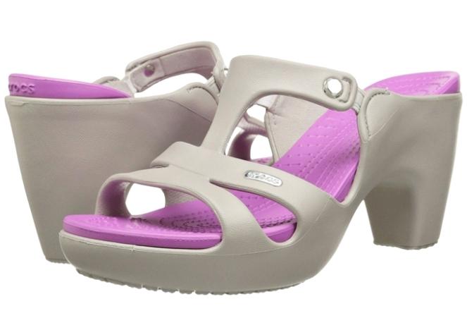 sandalia crocs com salto polêmica design moda fashion 2018 go fashion cruzeiro do sul 04 Crocs Cyprus V Heel tulipa